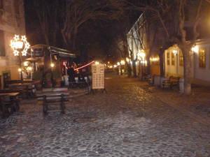 A cobbled street in Belgrade