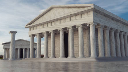 Greek Temple by Icesturm