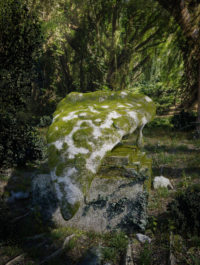 Forgotten Pizza Statue by Icesturm