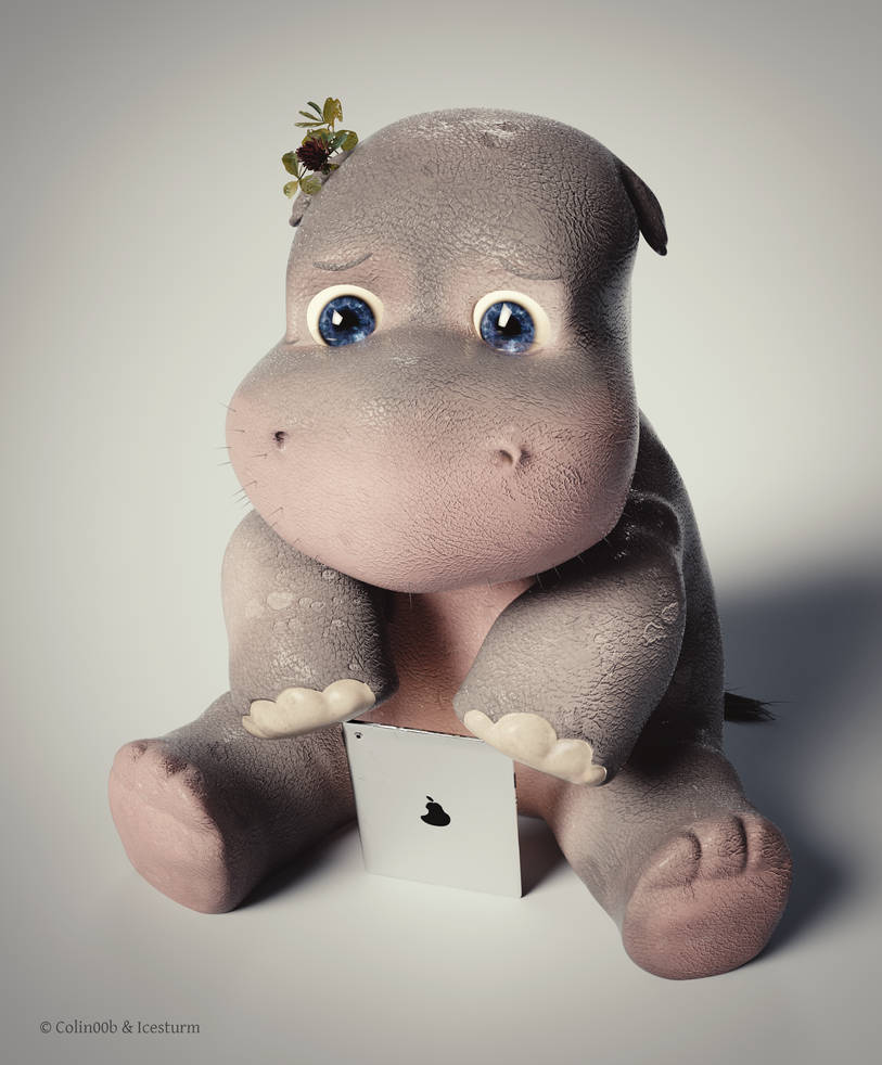 Sad Cyber Hippo by Icesturm