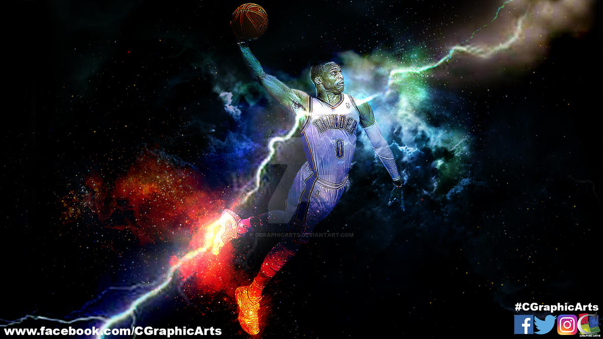 russell westbrook wallpaper by cgraphicarts on deviantart