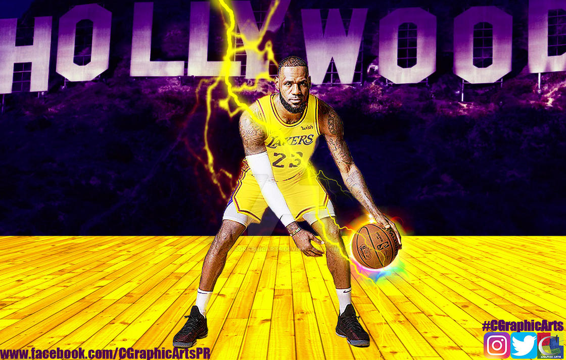 LeBron James Los Angeles Lakers Wallpaper by CGraphicArts ...