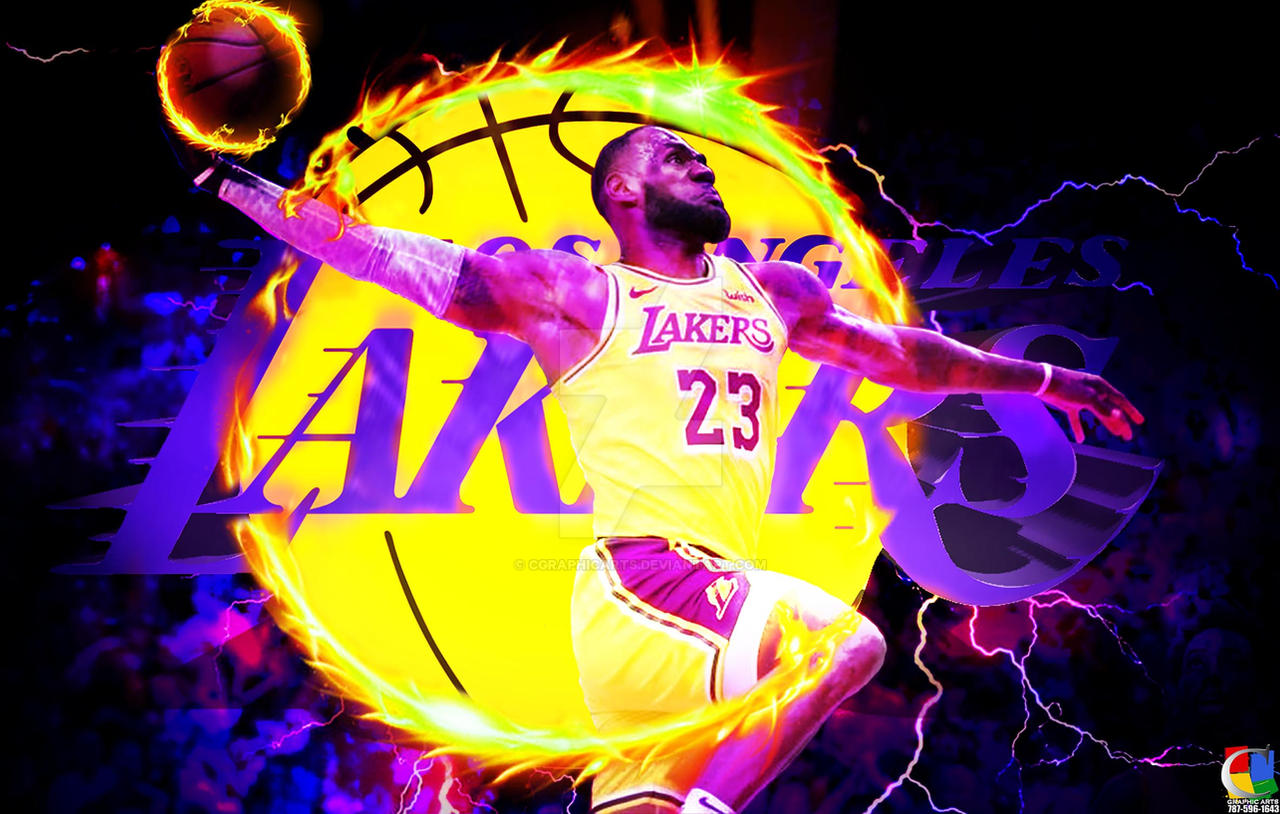 LeBron King James Lakers Wallpaper by CGraphicArts on ...