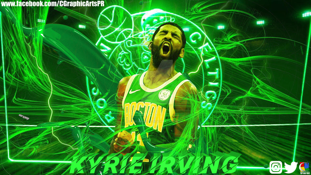 Cartoon Kyrie Irving Wallpapers Boston Celtics: Boston Celtics Kyrie Irving Wallpaper By CGraphicArts On