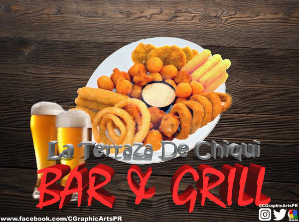 La Terraza De Chiqui Bar And Grill Logo By Cgraphicarts On