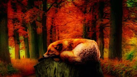 Resting Fox 3840x2160 by Misko-2083