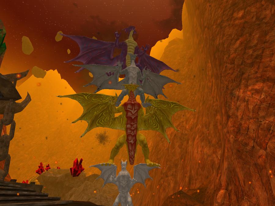 Dragon Totem Pole II :3 by FireDragon97
