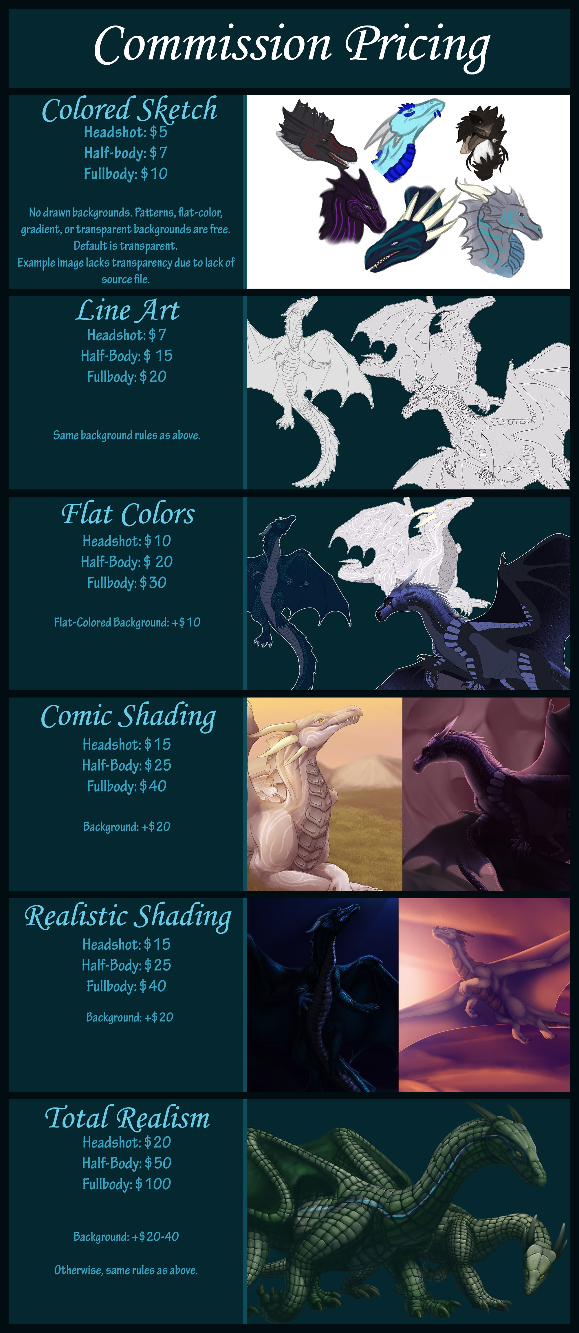 Commission Pricing [OUTDATED] by FireDragon97