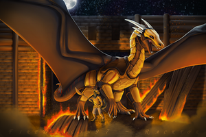 Commission - Storming the City by FireDragon97