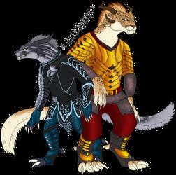 Syvierna and Kyraie by FireDragon97