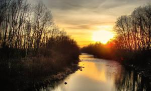 HDR Fluvial Sunset by Farguss