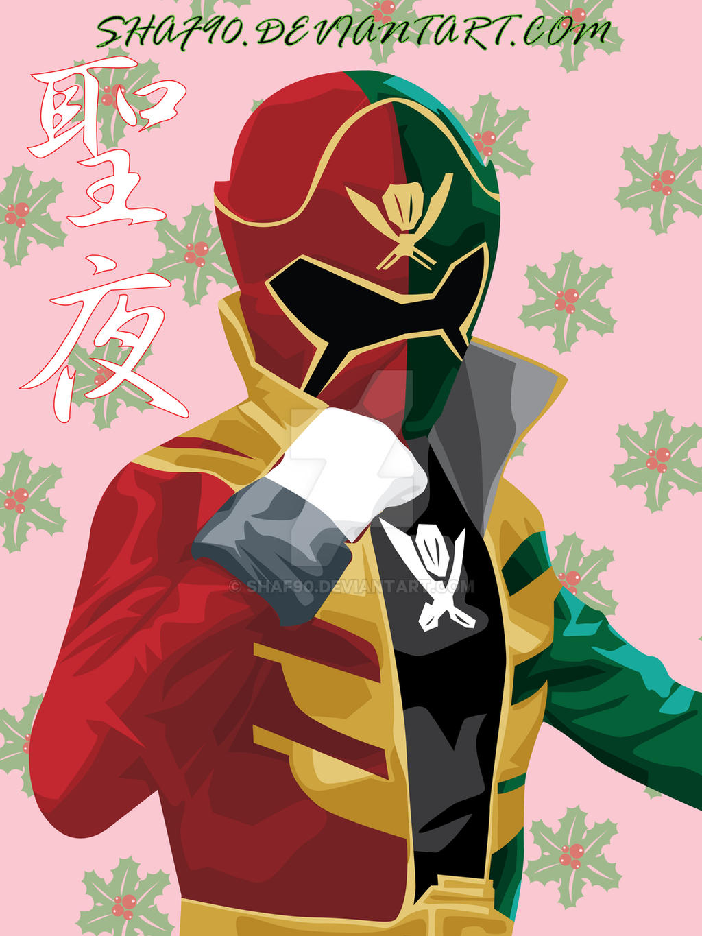 Gokai Christmas by Shaf90 on DeviantArt