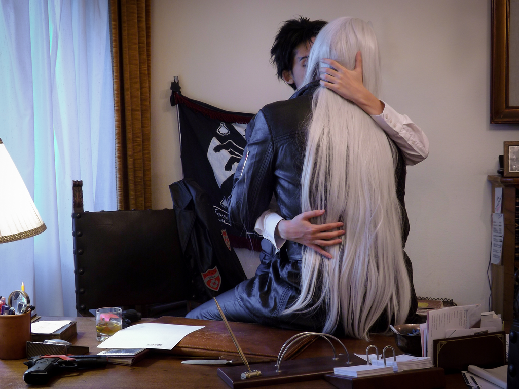 Cosplay - Xanxus and Squalo kiss XS by Kenoma