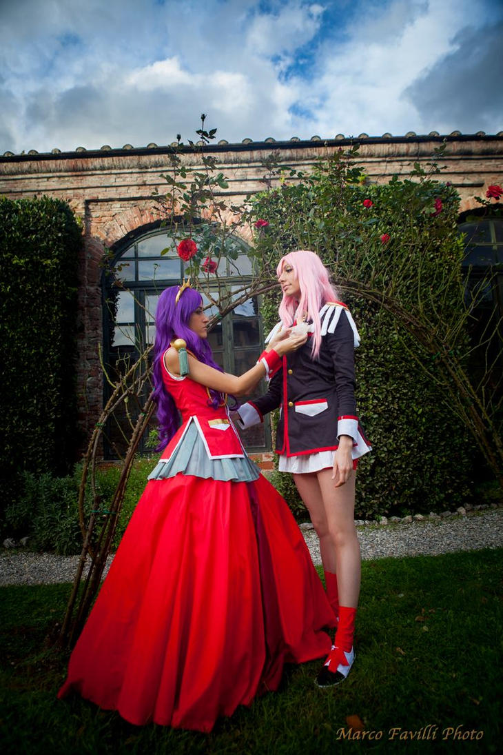Anthy and Utena Cosplay by Kenoma