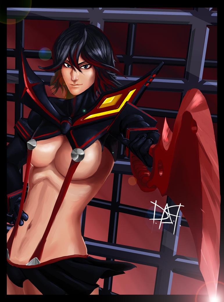 Kill La Kill - Matoi Ryuko by DarnArtPainter