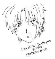 Attempting Manga - Allen Walker by wee-pixie-panda