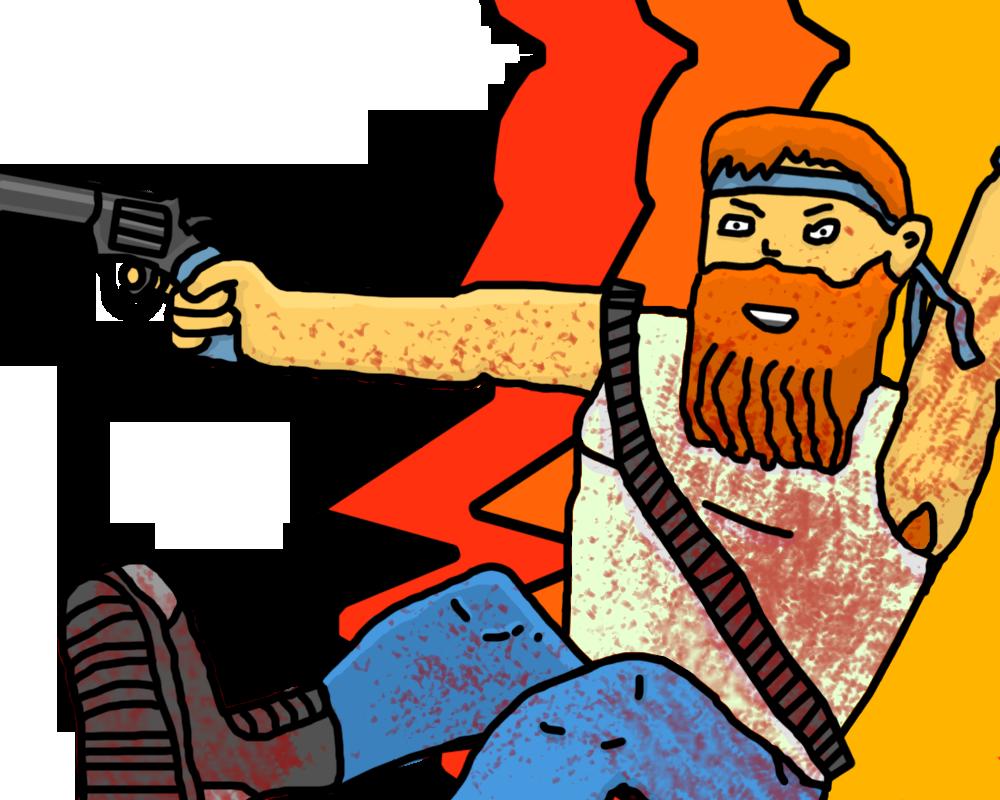 Ginger Hipster Guner by KieranFilth