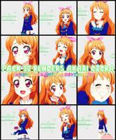 Pack #8: 12 render Akari Ozora by Anaka-aka-Midori