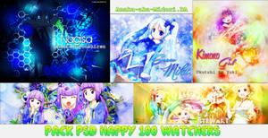 Pack PSD : Happy 100 Watchers by Anaka-aka-Midori