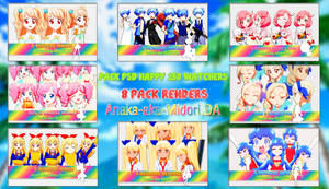 Pack Renders - Happy 250 Watchers by Anaka-aka-Midori