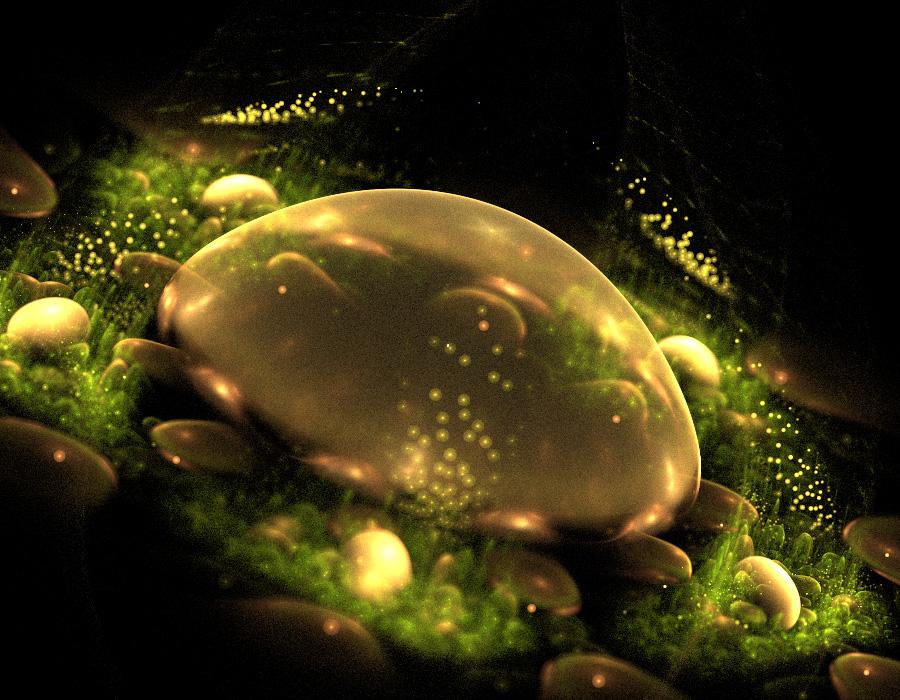 Jellyfish and pearls. by Kondratij
