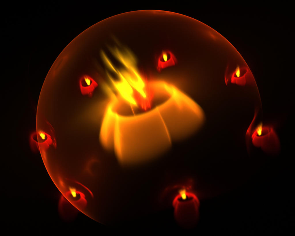 The ritual fire. by Kondratij
