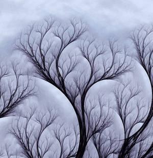Gray winter morning. by Kondratij