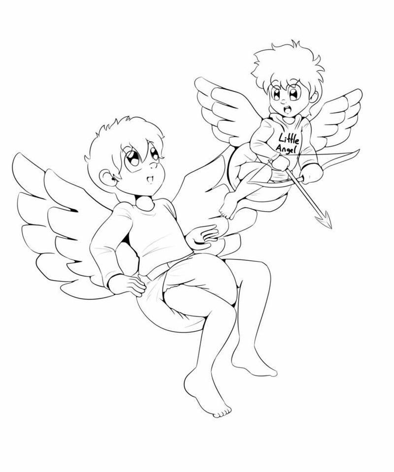 Angel Steven and Misaki  by Klonoa1293