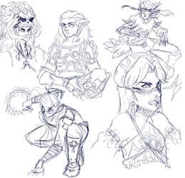 Link Sketches by CleoNova