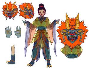 Dragon Girl Ref Sheet