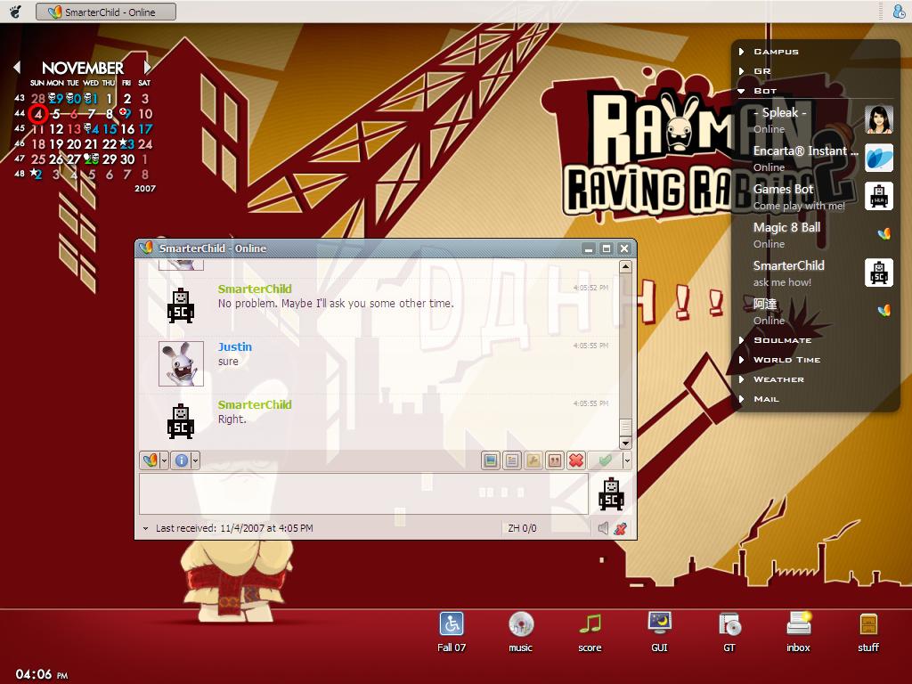 Desktop Screenshot: Nov 07 by tyt20423