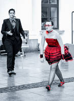 Woman in red.. by FunkyBah