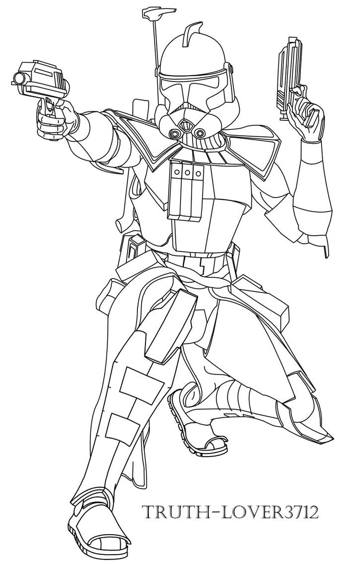 ARC trooper colouring page by Truth-lover3712 on DeviantArt