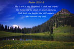 Verse for the Month - Psalm 23:1-3 by Truth-lover3712