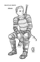 Dragon Age Origins: Alistair by shrouded-artist