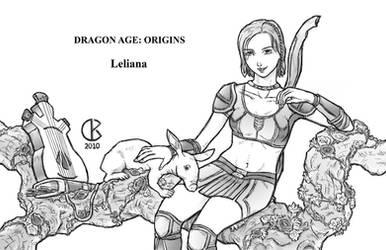 Dragon Age Origins: Leliana by shrouded-artist