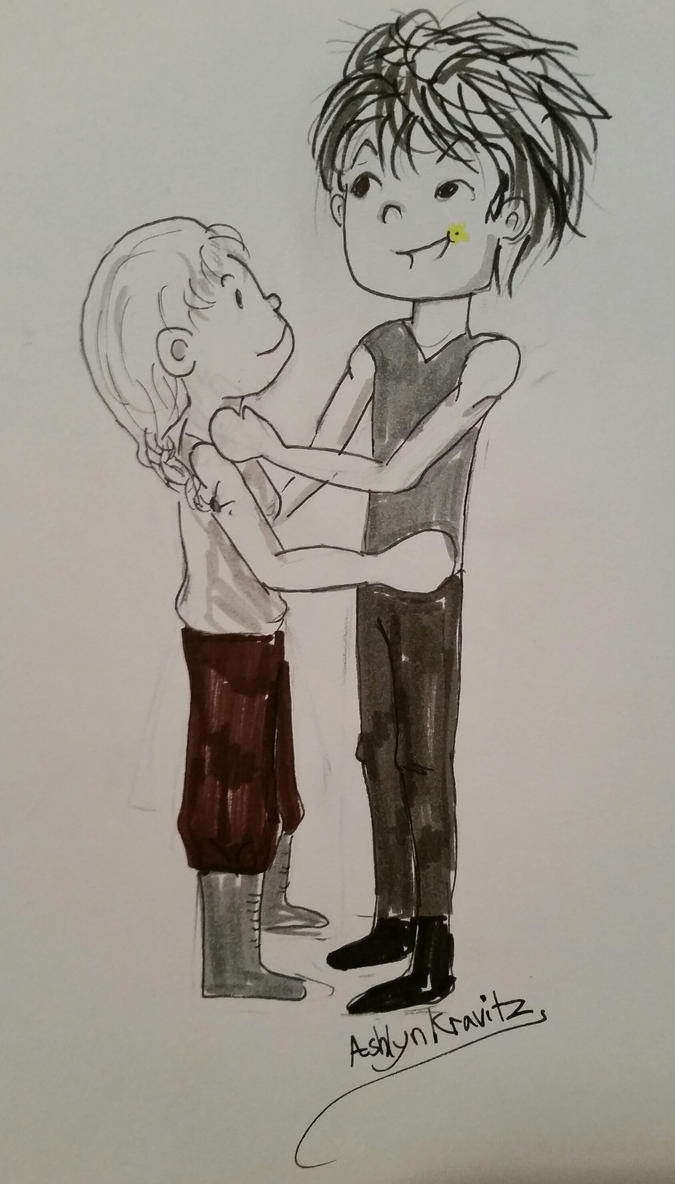 NaNo Sketch Lex and Rose by EndlessDestiny