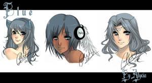 Commission - Blue by LunarScythe
