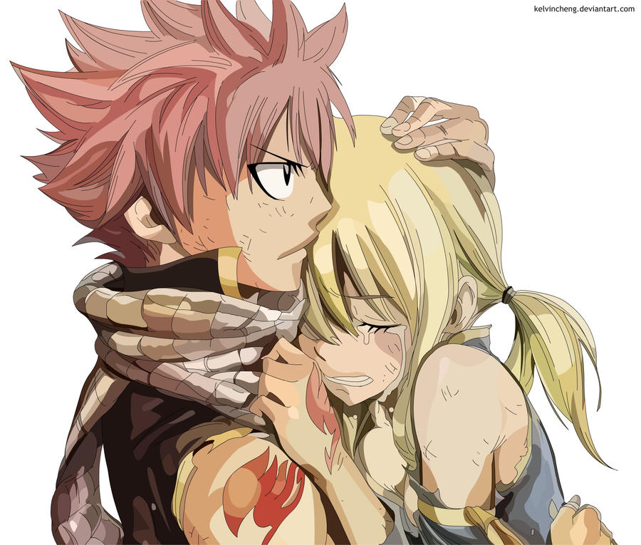 Natsu and Lucy (Rendered) by KelvinCheng on DeviantArt