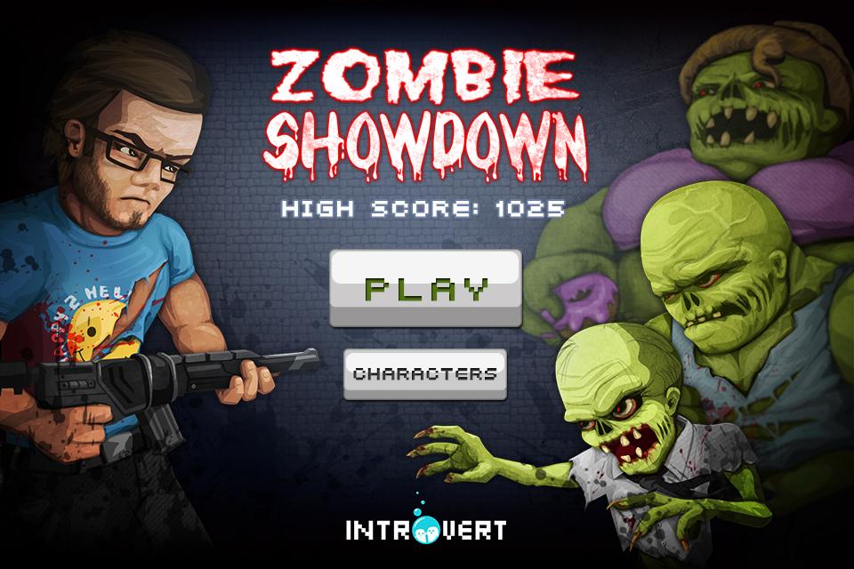 Zombie Showdown - Main Menu design by ClaireAdele