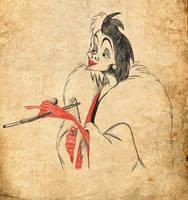 Cruella De Vil by eliselikesart
