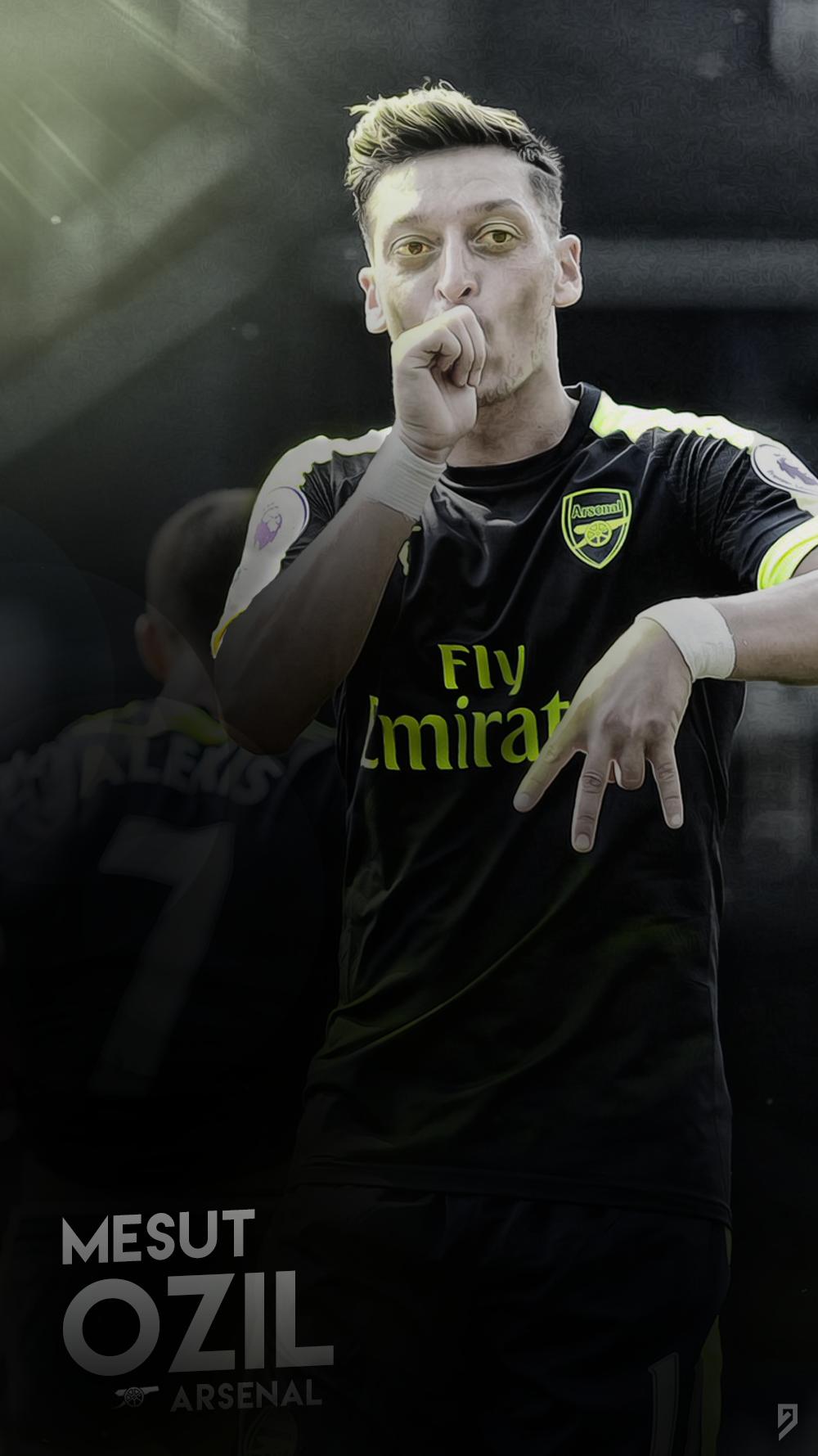 Mesut Ozil Wallpaper - Arsenal by abgrafix96 on DeviantArt