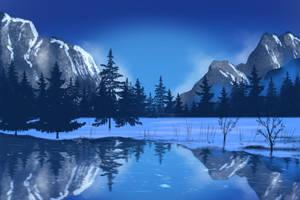 Snowy Landscape - Art With Flo Tutorial 12-2-20