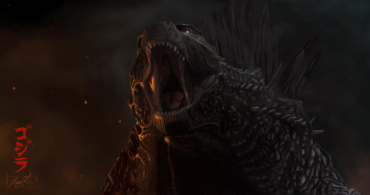 Godzilla 2014 Painting by Areoseph on DeviantArt