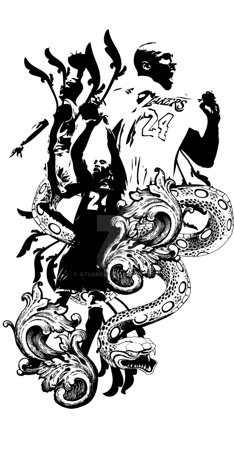 Kobe The Black Mamba By Atuarra