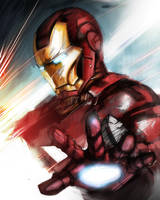 Iron Man Speed Paint by Timsalcove