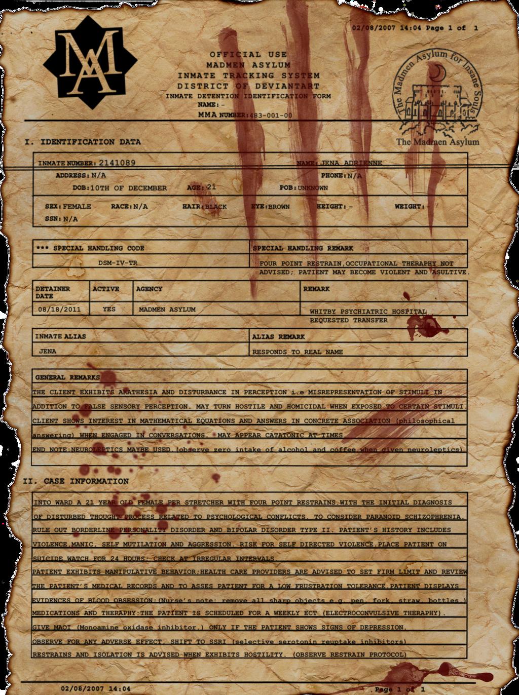 Asylum Registration Form by misz-kaulitz
