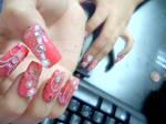 Bubblegum Ribbon Nail Set 3