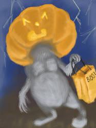 Pumpkin'Headed Critter. by JLai
