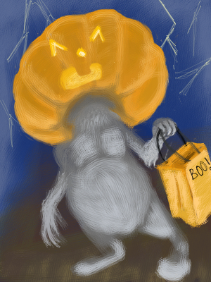 Pumpkin'Headed Critter. by JLai